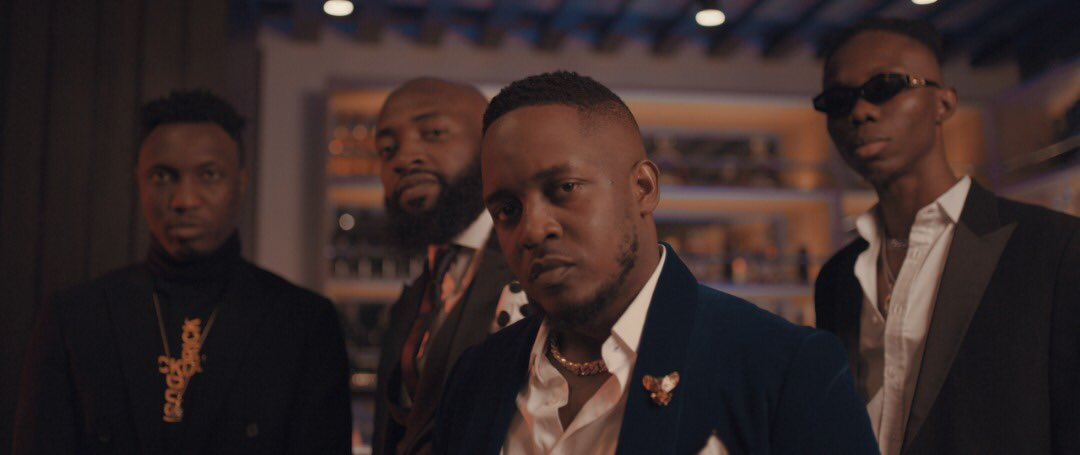 M.I Abaga, Loose Kaynon, A-Q, and Blaqbonez all Suited Up in Martell Cypher 2