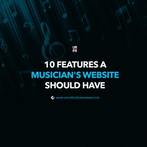 Features of a musician website
