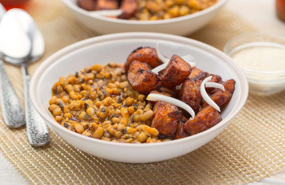 Plantain and Beans Stew
