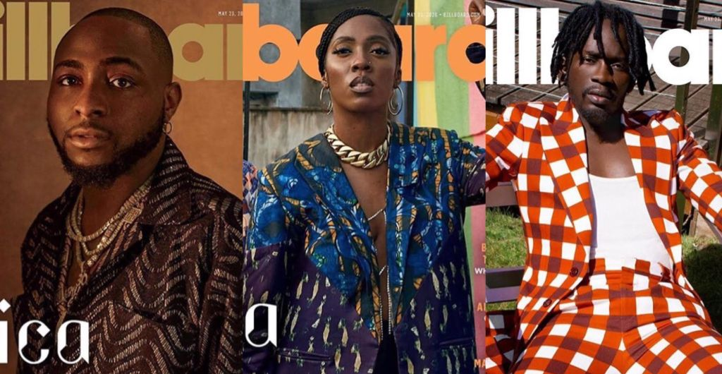 Afrobeat Titans Davido, Mr Eazi and Tiwa Savage Takeover Billboard's Latest Issue